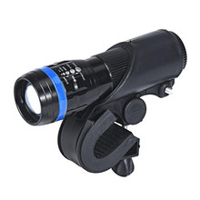 Universal Bike Flashlight LED Torch Mount Clip 360 Degree Rotation Cycling Clip Clamp Bicycle Light Holder F,22