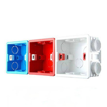 86*84MM Cassette Universal White/Red/Blue Wall Mounting Box for EU/UK Socket Back Box and Wall Touch Switch Popular In RU