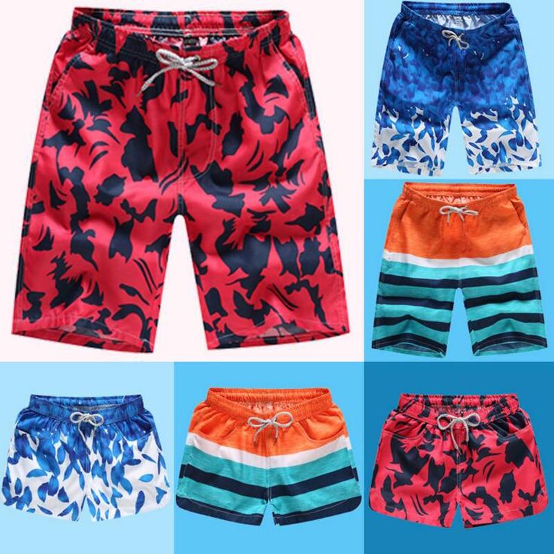 Summer Beach Pants Men's Casual Loose Broken Flowers Big Trousers Fast Dry Surfing Beach   Shorts   Free Size Pattern Beach   Short