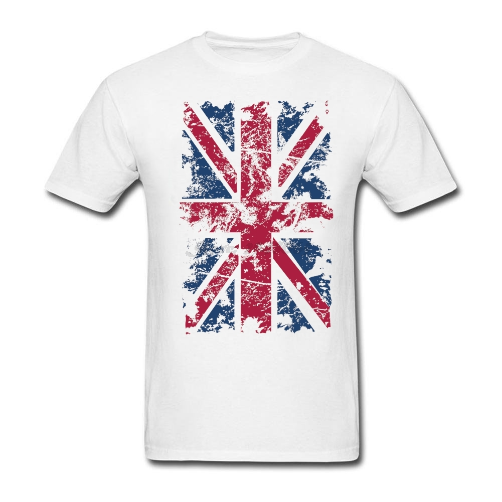 Design t shirt online uk - Design Uk Flag Retro Mens T Shirt Musical Heather Tees For Man Original Pre Cotton