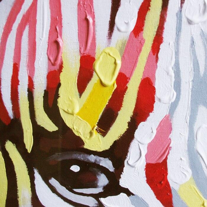 Unframed Handmade Cartoon Wall Art Picture Textured Modern Abstract ...