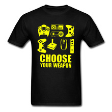 Choose Weapon Board Game Personalized Tshirts VideoGame Playstation O-Neck Short Sleeve Tops & Tees Man Best Birthday Gift