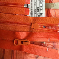 Wodoodporny zamek błyskawiczny ykk orange otwarty koniec do uprawiania turystyki pieszej odzież outdoor śpiwór akcesoria do szycia