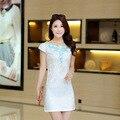 2016 Nova moda Verão Vestidos Magro cheongsam diária Elegante Estilo Chinês Vestido de Cheongsam CS13