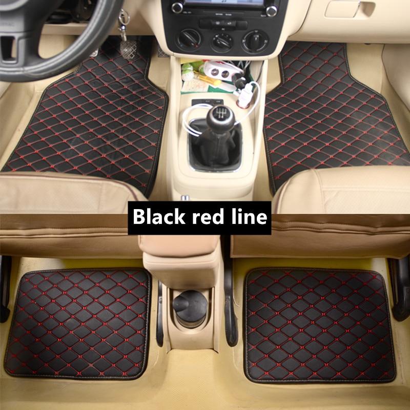 Universal Car Floor Mat For Kia Rio 3 Soul Sportage 2011 2018 Sorento Cerato K3 Optima 2017 Waterproof Car Accessories
