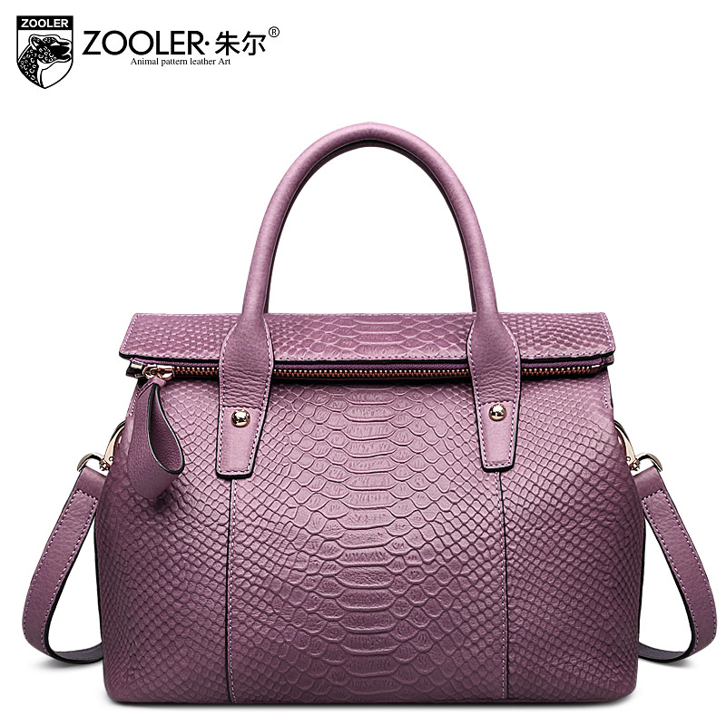 ZOOLER Women's Handbags Made Of Genuine Leather Luxury Elegant Ladies' Handbag Serpentine Handtassen OL Lady Beloved Bayan Canta