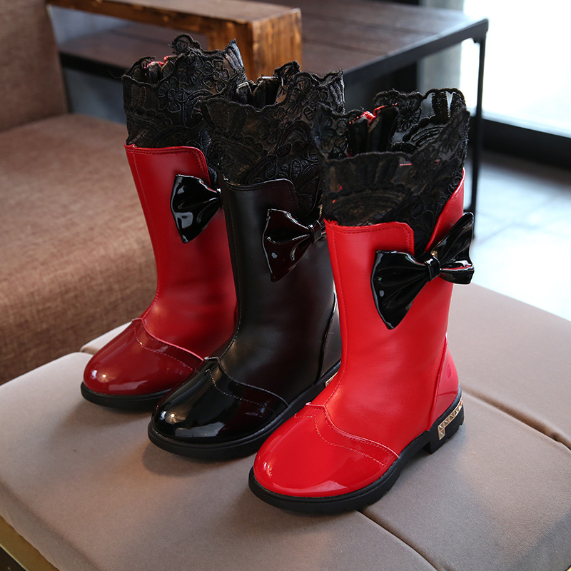 Lace Bow-Knot Boots