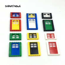 Smartable 6pcs Windows & Doors building Blocks parts DIY house Toys Compatible All Brands city Toy mixed colors 12pcs/lot