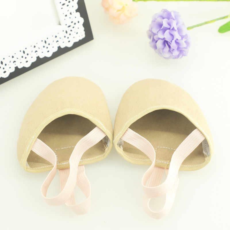 התעמלות אומנותית נעלי רך חצי גרבי ילדים למבוגרים אלסטי בלט ריקוד חצי נעליים
