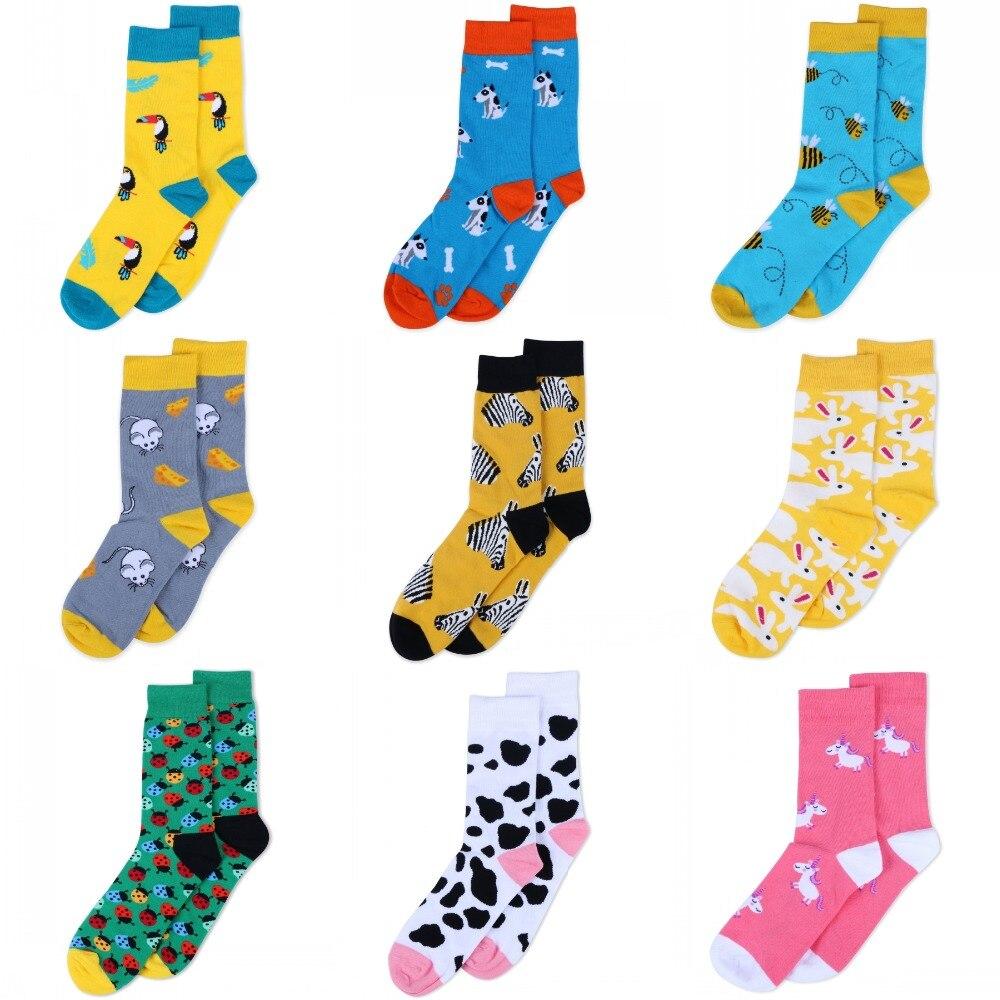 animal pattern funny   socks   for women men dog zebra Shark fish Dinosaur design harajuku   socks   casual fashion unisex   socks   new