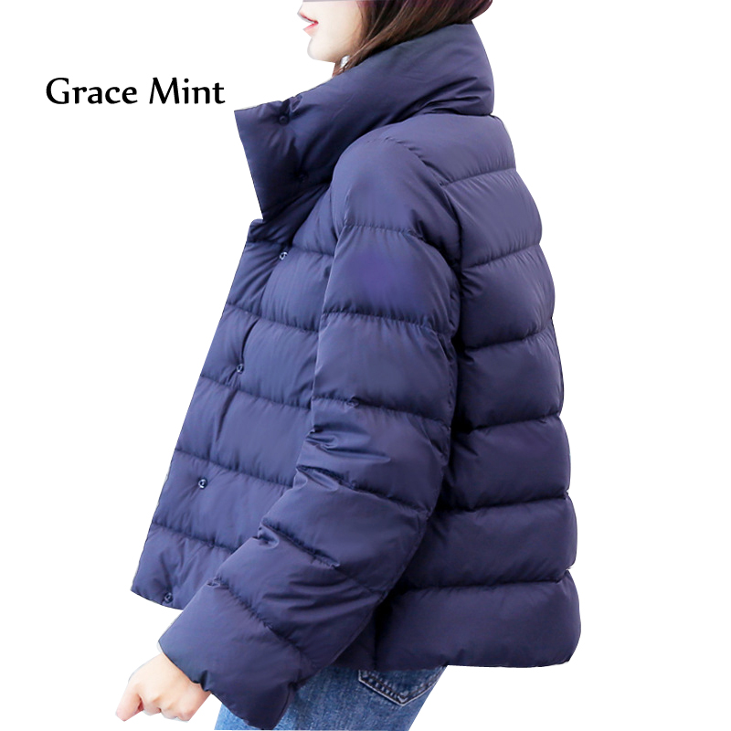 Down   Jacket Women Gray Duck   Down   White Duck   Down     Coat   Thin Loose Casual Short Jacket Overcoat S-3XL