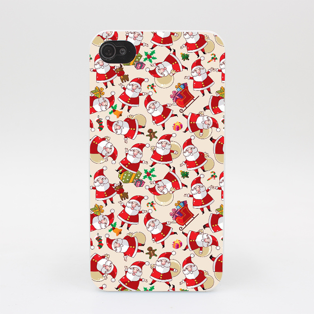 160HY Father Christmas Santa Claus Hard White Case Cover for iPhone 4 4s 5 5s 5c SE 6 6s 7 7 Plus Print