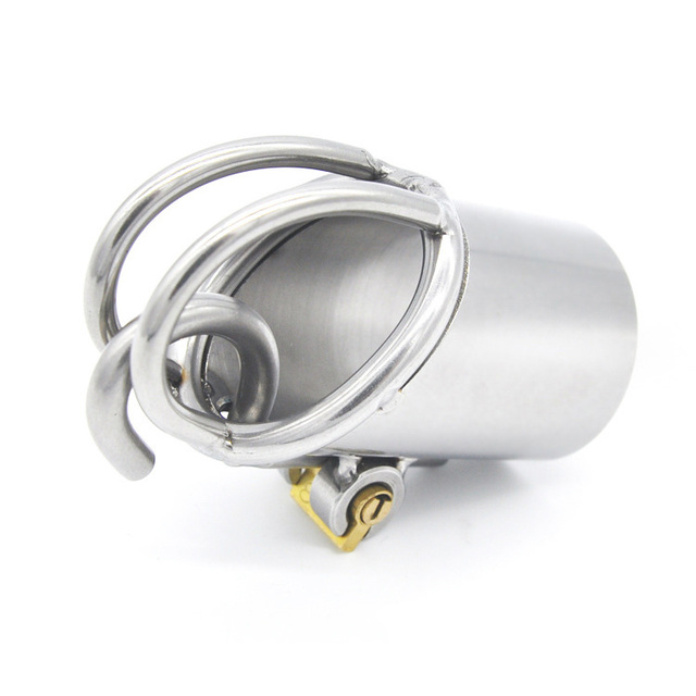 Stainless Steel PA Puncture Chastity Device Cock Cage Penis Lock Cock Ring Chastity Belt Adult Game