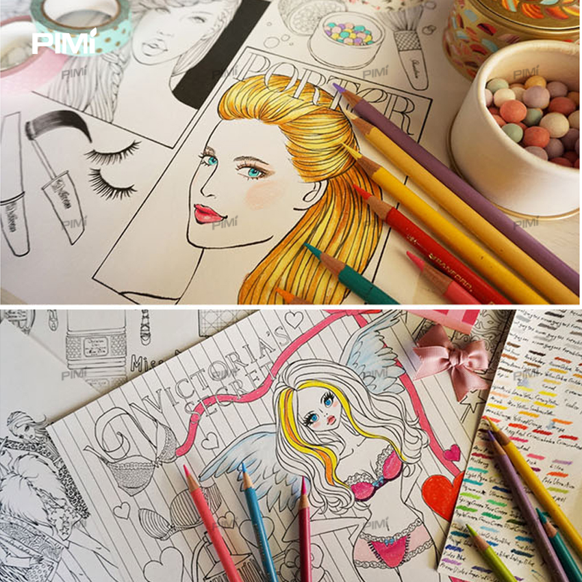 Aliexpress.com : Buy Modern girl Coloring Books For Adults Relieve ...