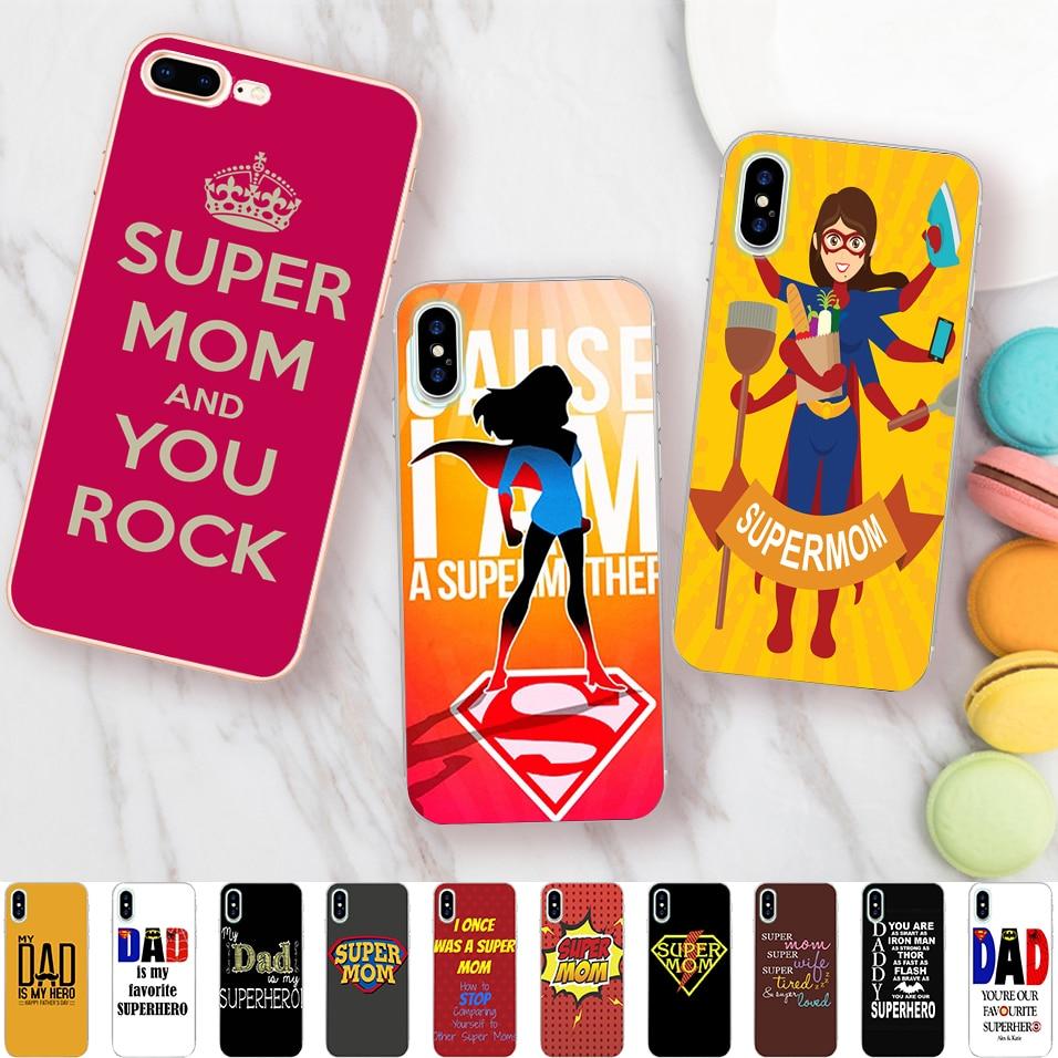 9558ff34d2 Minason I Am Super Mom Dad Case for iPhone X 5 S 5S XR XS Max SE 6 ...