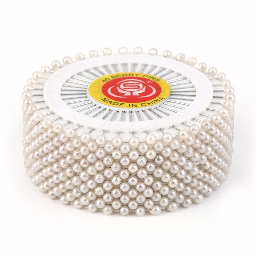 35mm 480 pcs/ensemble Blanc Tête Ronde Couture Perle Décoration Couture Pin Artisanat Pour La Maison Décoratif BRICOLAGE Artisanat Accessoires