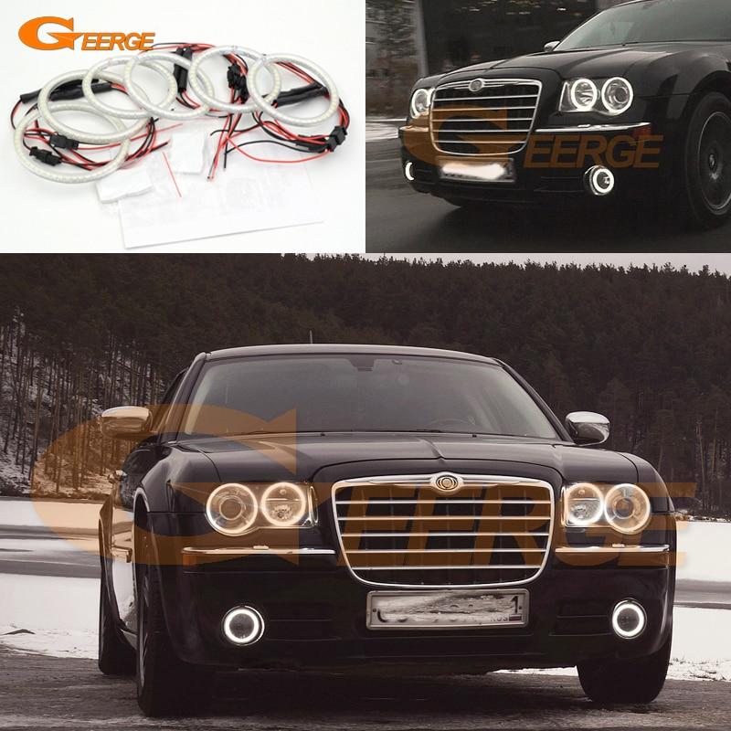 все цены на  For Chrysler 300C 2004 2005 2008 2009 2010 Excellent 6 pcs smd led Angel Eyes Super bright 3528 SMD led Angel Eyes kit  онлайн