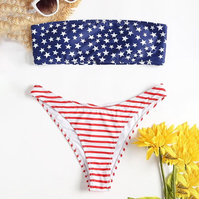 High Waist Swimsuit Sexy Leopard Bikini Women Brazilian Pad Swimwear Push Up Bandeau Top Bottom Floral Bikini Set Bathing Suits
