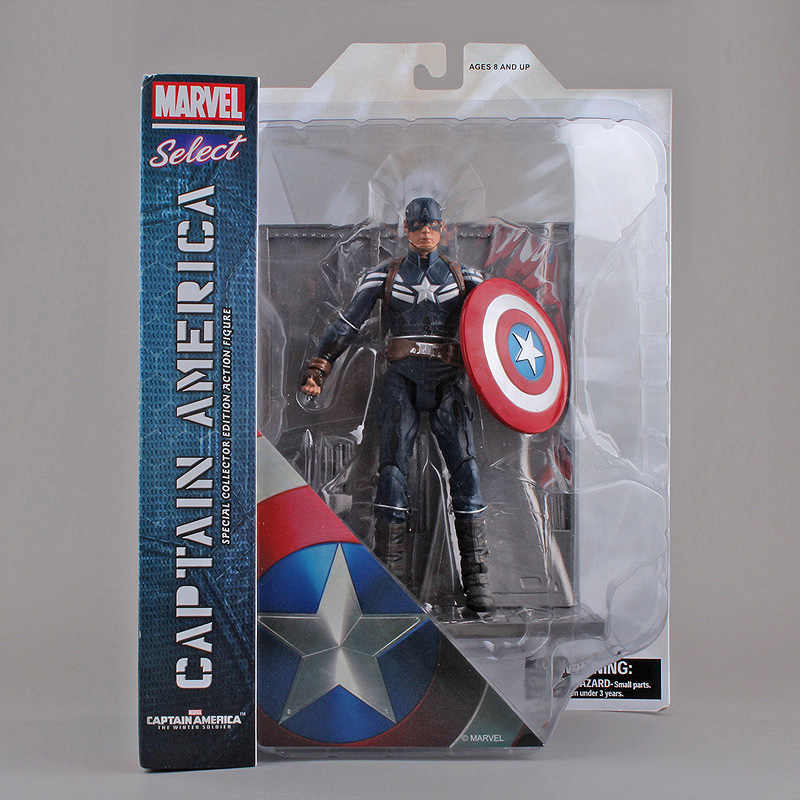 "Marvel Select The Avengers Capitão América Edição de Colecionador Especial PVC Action Figure Toy Collectible 7 ""18 cm"