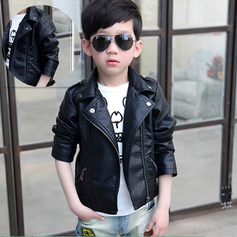 b3e990ef0 Children clothes boys leather jacket kids motorcycle clothing 2019 ...