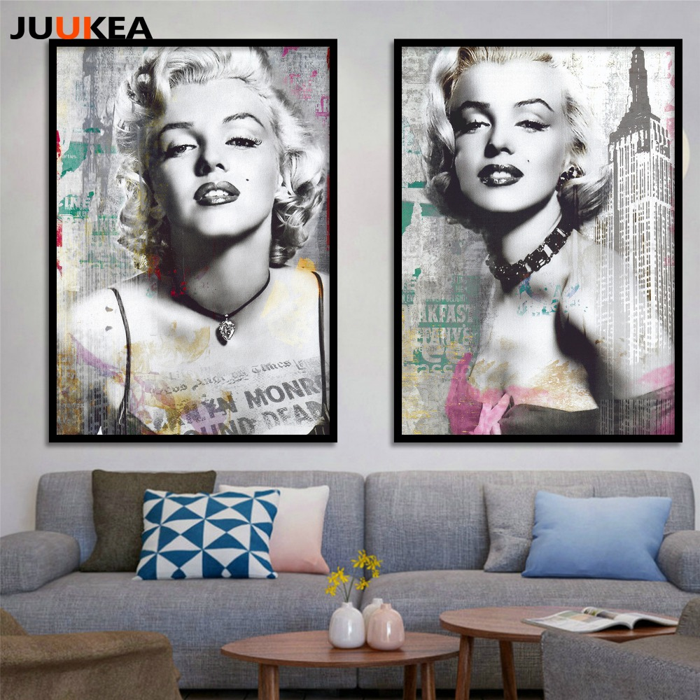 Movie poster sexy marilyn monroe canvas art printing for Imagenes de cuadros abstractos famosos