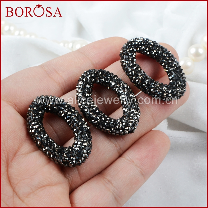 BOROSA Marquise Rhinestone Decorations for Bracelet Making Micro CZ Pave  Bead For Jewelry Making JAB462-in Beads from Jewelry   Accessories on ... d68fb1d4978b