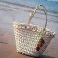 Morango Saco De Palha grossa Quente de Verão Moda Praia Sacos de Tecido A1145 Luz Material do Saco Das Mulheres Frete Grátis
