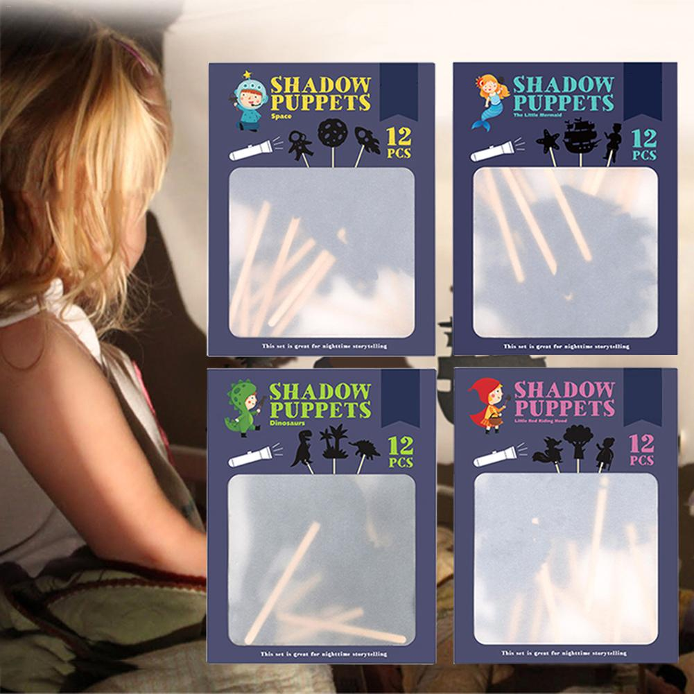 Children Shadow Puppets Educational Silhouette Game Interesting Shadow Picture Parent-child Interaction Cognition Game