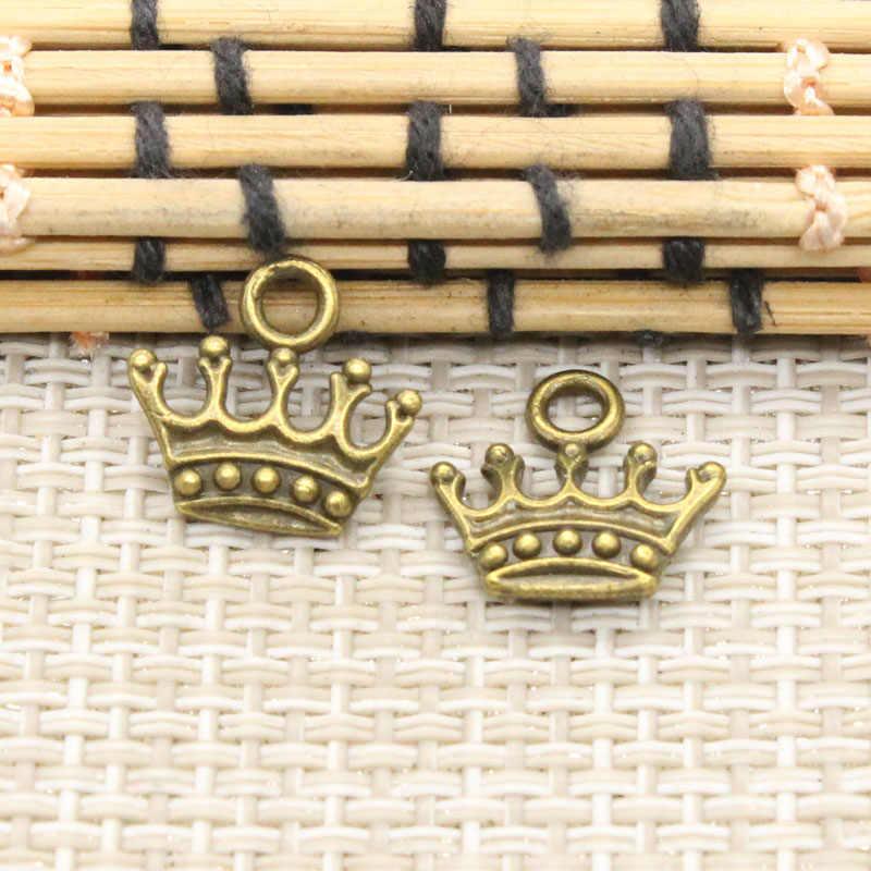 20 قطعة تاج السحر 13x14 مللي متر التبت الفضة اللون المعلقات العتيقة صنع المجوهرات Craft بها بنفسك الحرفية اليدوية