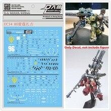 D.L yüksek kaliteli Çıkartma su macunu UC34 Için Bandai RG 1/144 Thunderbolt Zaku Gundam DL129