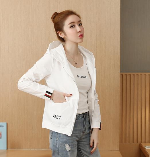 Women's Fashion new Korean version loose wild jacket Outwear baseball uniform short Womens Coat 32