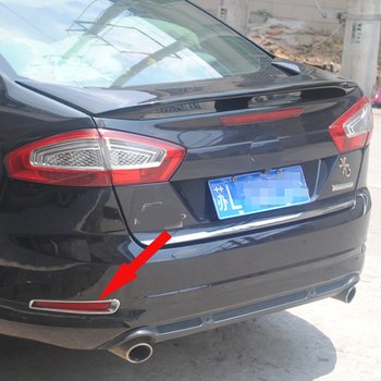 จัดส่งฟรี ABS Chrome ไฟตัดหมอกด้านหลังฝาครอบหมอกโคมไฟสำหรับ Ford Mondeo MK4