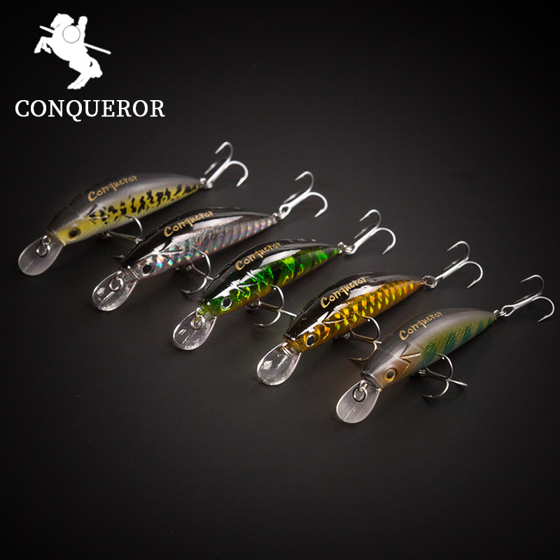 Conquero 2017 good fishing lure  ,50mm/6.5g  floating super sinking minnow  VMC Hanks