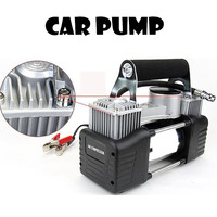 Automobile air pump 12V 150PSI Vehicle mounted pump Tire inflation Double cylinder pump
