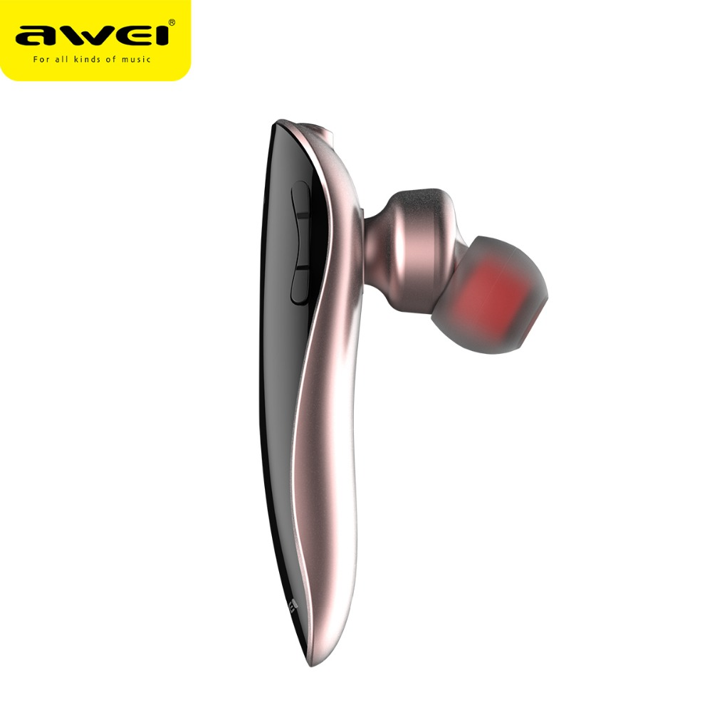 AWEI N1 Unilateral Bluetooth Headset for driving Stereo mini true Wireless Earphones with mic Handfree earbuds noise cancelling 1