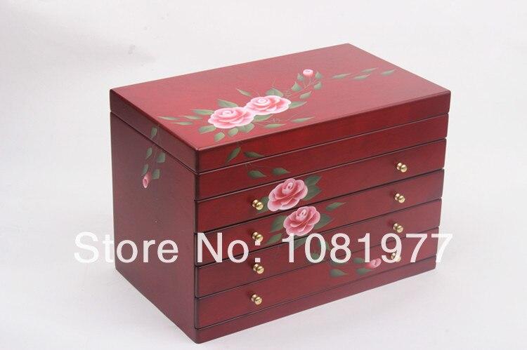 font b vintage b font Wood font b Jewelry b font Box font b jewelry