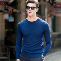 COODRONY Top Quality Knitted Cashmere Sweaters Christmas Merino Wool Sweater Men Classic Casual Pure Color O Neck Pullover Men