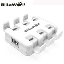 BlitzWolf USB Charger Mobile Phone Charger Adapter 6-Port Fast Desktop Charger For iPhone 7 6s 6 Plus SE For Samsung Smartphone