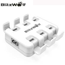 Blitzwolf USB Зарядное устройство мобильного телефона Зарядное устройство адаптер 6-Порты и разъёмы Быстро настольных Зарядное устройство для iPhone 7 6 S 6 plus SE для Samsung смартфон