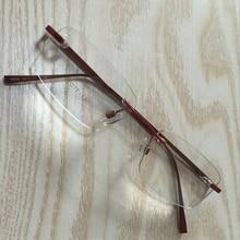 Fashion New Style Brand Alloy  Men Women Optical Eyewear Rimless Frames Glasses Spectacles Myopia Frame