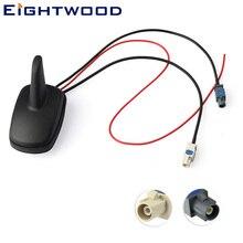 Eitwood DAB + antena FM Radio Digital para coche/estéreo montaje en techo amplificado Shark Aerial FAKRA conector para Alpine ez dab