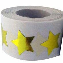 Купить Smart Стикеры Gold Star Форма Стикеры s-2 «дюйма-500 в рулоне-Блестящий металлический Фольга учитель поставки