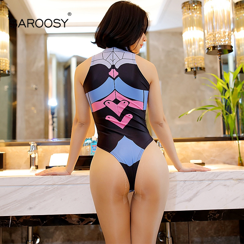 HTB1Ln.mkyQnBKNjSZFmq6AApVXa9 - SAROOSY Sexy DVA Cosplay Costumes For Women Erotic Lingeire Cartoon Open Crotch Bodysuit Sexy Underwear Elastic Women Clothes