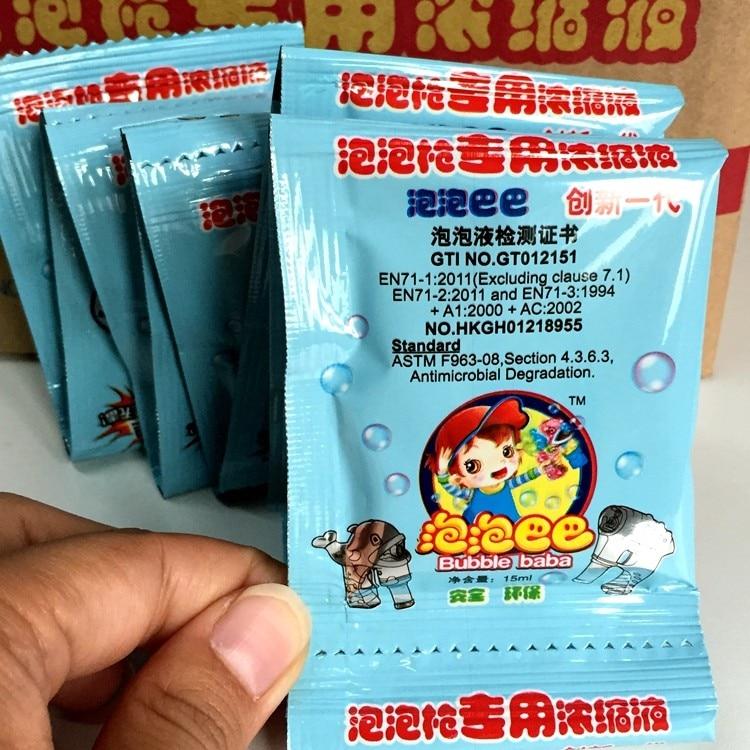 30bags 10ml 1:7 Soap Bubbles toy in wedding soap bubbles liquid for Children machine use Gazillion blowing bubbles d21