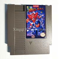 닌텐도 NES 게임 메가 남자 5 비디오 게임 카트리지 콘솔 카드 미국/EU 유니버설 영어 버전