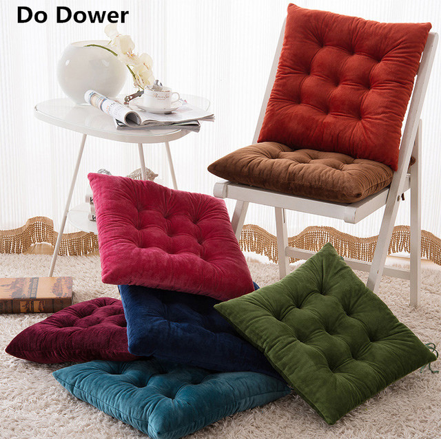 Charmant A Thick Crystal Cashmere Cushion Cover Kitchen Chair Cushion Solid Square  Machine Washable Have Core 40