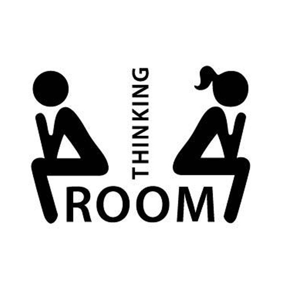 Removable Thinking Room Toilet Decoration Stickers Cute Fairy Bathroom Toilet Door Indicator Mark Stickers High Quality