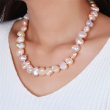 oval white necklace women