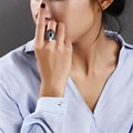 Chegada nova projeto Original Nova cor tendência estilo Boemia Sintético AAA Luxo Cubic Zirconia anéis de coquetel para as mulheres