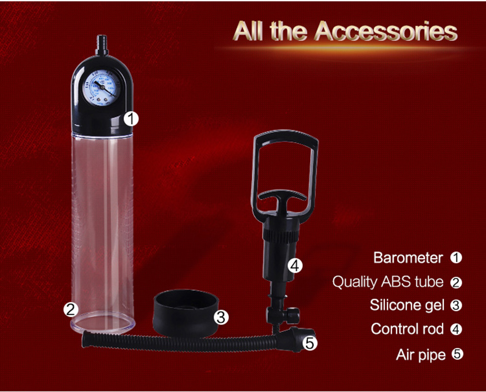 CANWIN Manual Penis Pump Enlargement Pumps Strong Suction Sex Toy Adult Product penis enlargement extender for Men 3